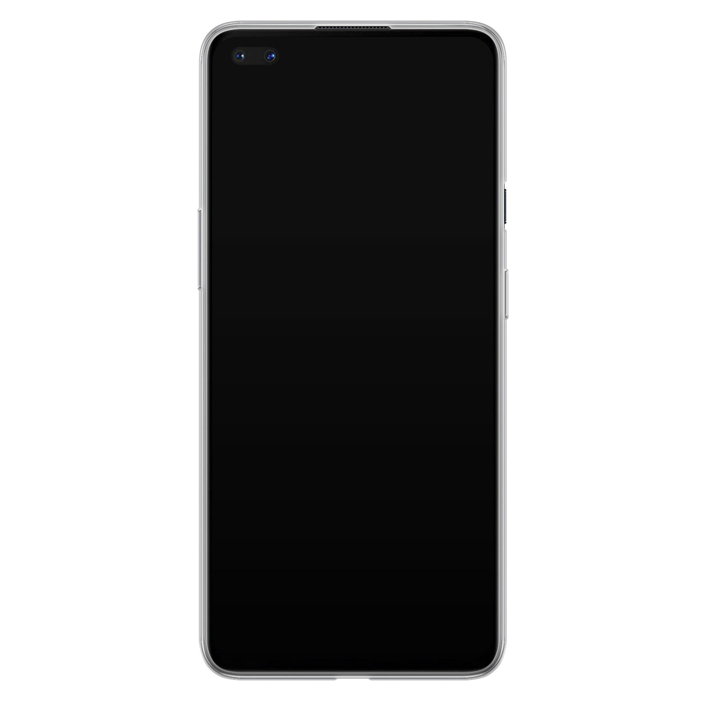 Telefoonhoesje Store OnePlus Nord siliconen hoesje - Geometrisch marmer