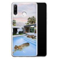 ELLECHIQ Huawei P30 Lite siliconen hoesje - Tiger pool