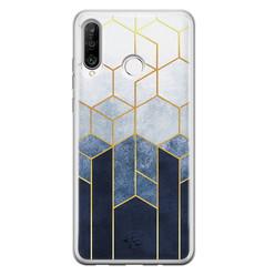 Telefoonhoesje Store Huawei P30 Lite siliconen hoesje - Geometrisch fade art