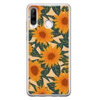 Telefoonhoesje Store Huawei P30 Lite siliconen hoesje - Zonnebloemen