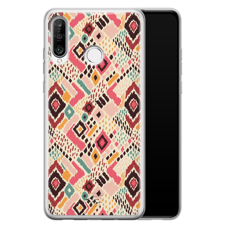 Telefoonhoesje Store Huawei P30 Lite siliconen hoesje - Boho vibes