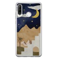 Leuke Telefoonhoesjes Huawei P30 Lite siliconen hoesje - Desert night