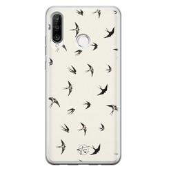 Telefoonhoesje Store Huawei P30 Lite siliconen hoesje - Freedom birds