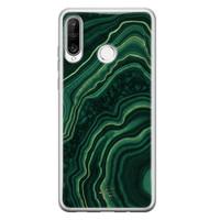 Telefoonhoesje Store Huawei P30 Lite siliconen hoesje - Agate groen