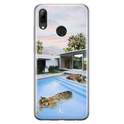 ELLECHIQ Huawei P Smart 2019 siliconen hoesje - Tiger pool