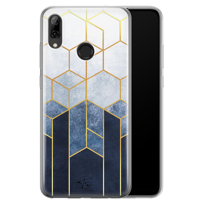 Telefoonhoesje Store Huawei P Smart 2019 siliconen hoesje - Geometrisch fade art