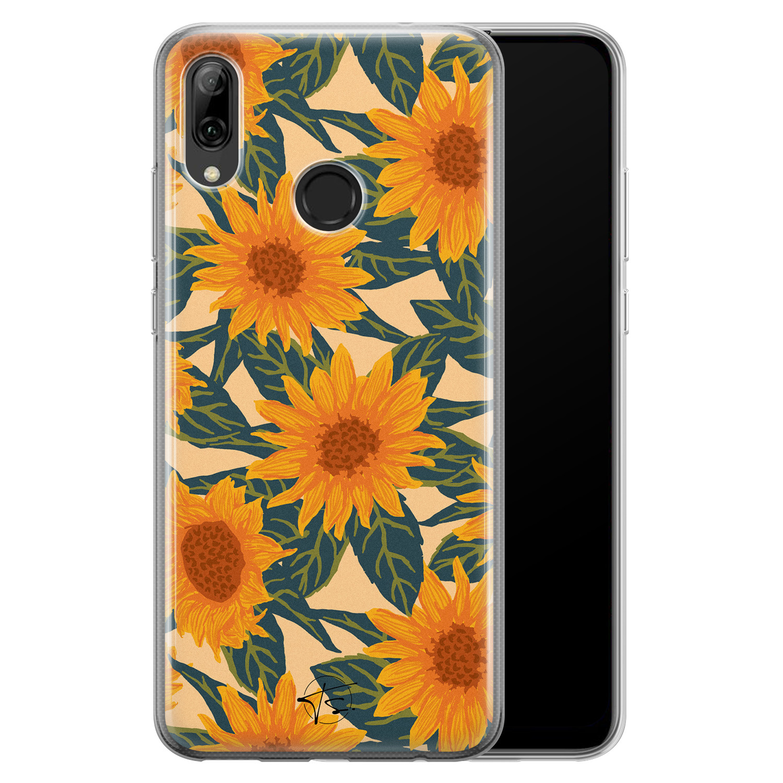 Telefoonhoesje Store Huawei P Smart 2019 siliconen hoesje - Zonnebloemen