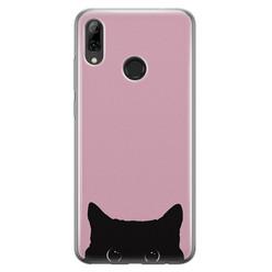 Telefoonhoesje Store Huawei P Smart 2019 siliconen hoesje - Zwarte kat
