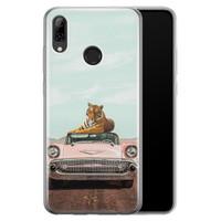 Telefoonhoesje Store Huawei P Smart 2019 siliconen hoesje - Chill tijger