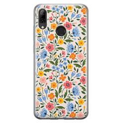 Telefoonhoesje Store Huawei P Smart 2019 siliconen hoesje - Romantische bloemen