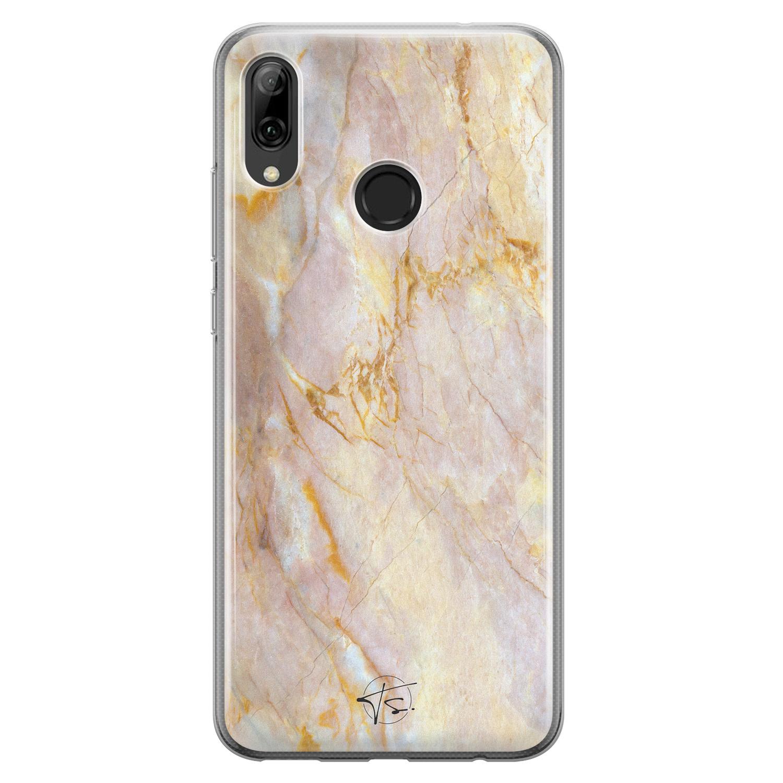ELLECHIQ Huawei P Smart 2019 siliconen hoesje - Stay Golden Marble