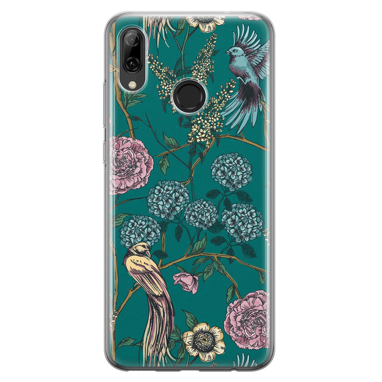 Telefoonhoesje Store Huawei P Smart 2019 siliconen hoesje - Bloomy birds