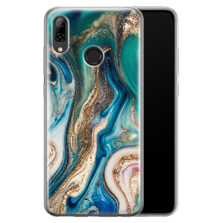 Telefoonhoesje Store Huawei P Smart 2019 siliconen hoesje - Magic marble