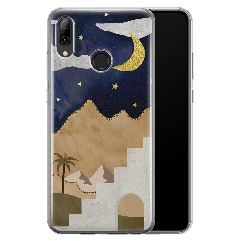 Leuke Telefoonhoesjes Huawei P Smart 2019 siliconen hoesje - Desert night