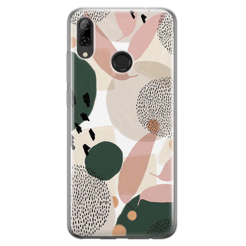 Leuke Telefoonhoesjes Huawei P Smart 2019 siliconen hoesje - Abstract print
