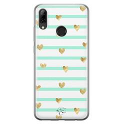 Telefoonhoesje Store Huawei P Smart 2019 siliconen hoesje - Mint hartjes