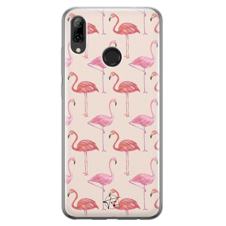 Telefoonhoesje Store Huawei P Smart 2019 siliconen hoesje - Flamingo