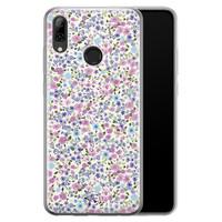 Telefoonhoesje Store Huawei P Smart 2019 siliconen hoesje - Purple Garden