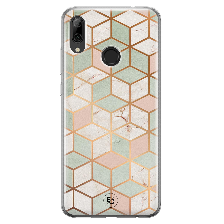 ELLECHIQ Huawei P Smart 2019 siliconen hoesje - Pastel Kubus