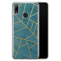 Telefoonhoesje Store Huawei P Smart 2019 siliconen hoesje - Abstract blauw