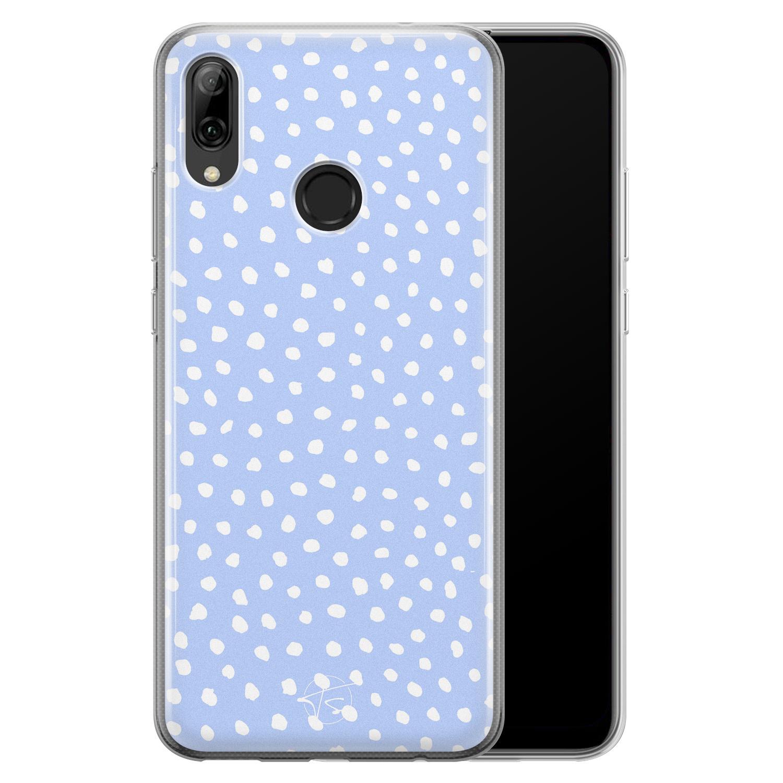 Telefoonhoesje Store Huawei P Smart 2019 siliconen hoesje - Purple dots