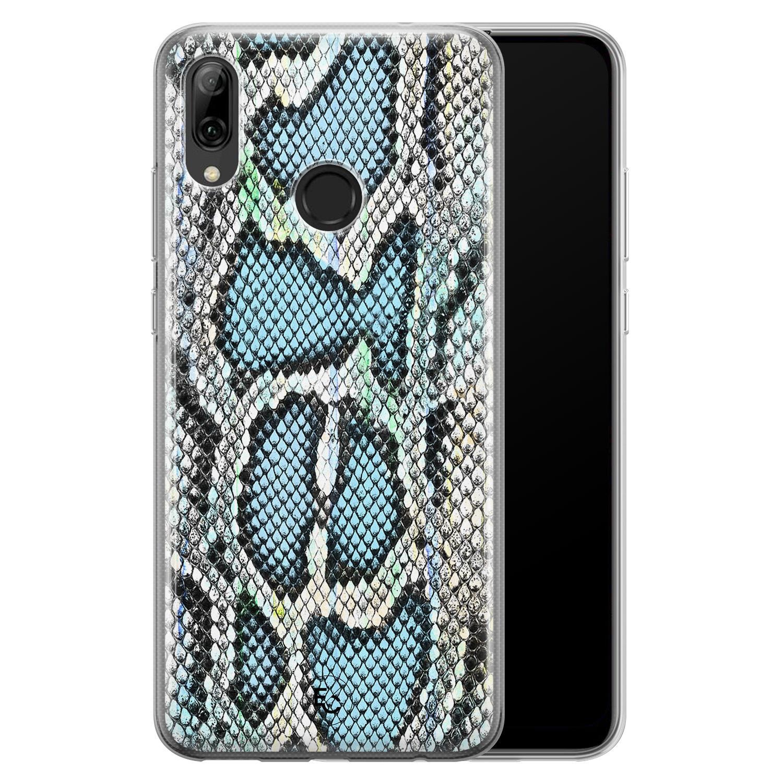 ELLECHIQ Huawei P Smart 2019 siliconen hoesje - Baby Snake blue