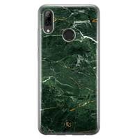 ELLECHIQ Huawei P Smart 2019 siliconen hoesje - Marble jade green