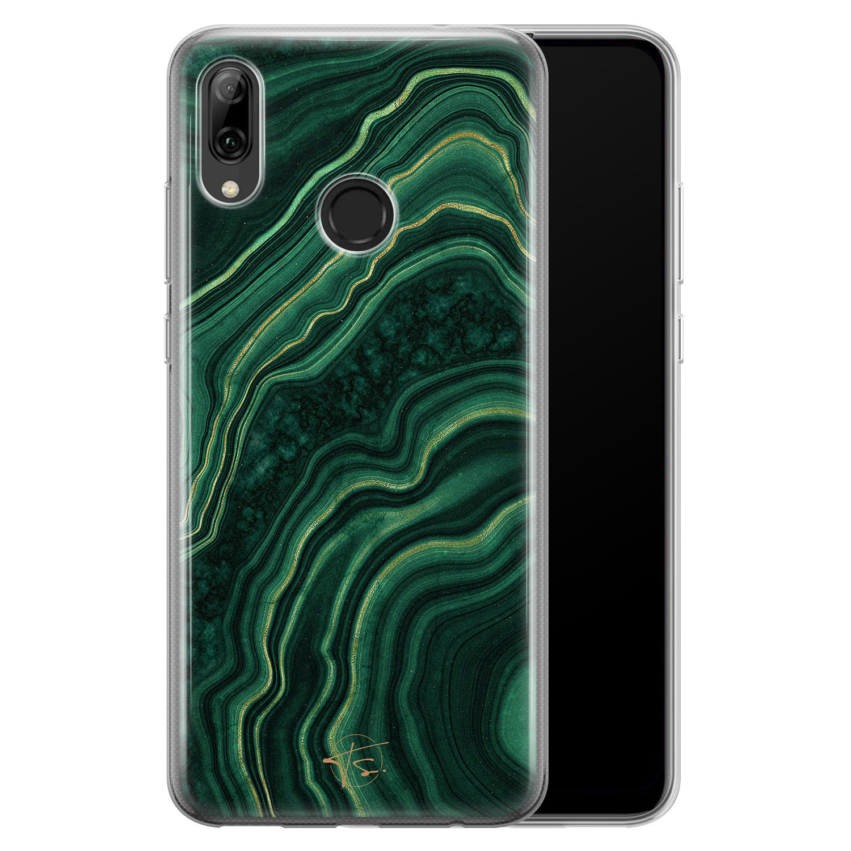 Telefoonhoesje Store Huawei P Smart 2019 siliconen hoesje - Agate groen