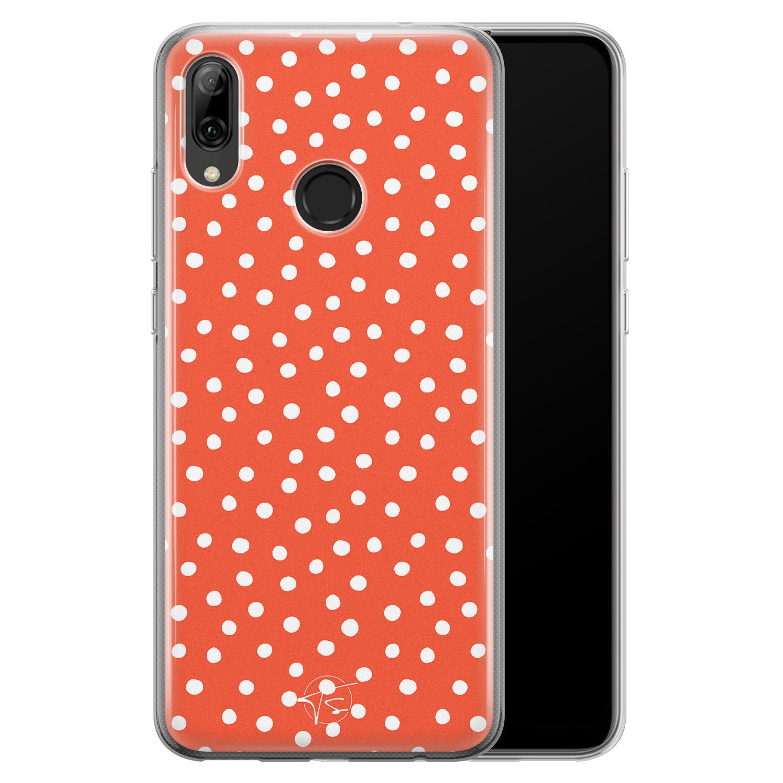 Telefoonhoesje Store Huawei P Smart 2019 siliconen hoesje - Orange dots