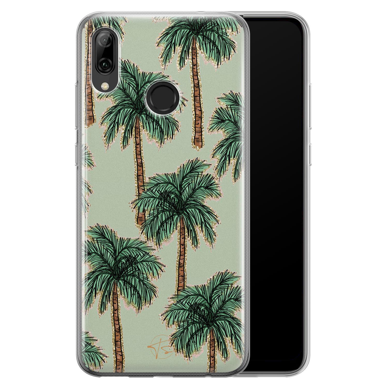 Telefoonhoesje Store Huawei P Smart 2019 siliconen hoesje - Palmbomen