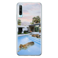 ELLECHIQ Huawei P Smart Pro siliconen hoesje - Tiger pool