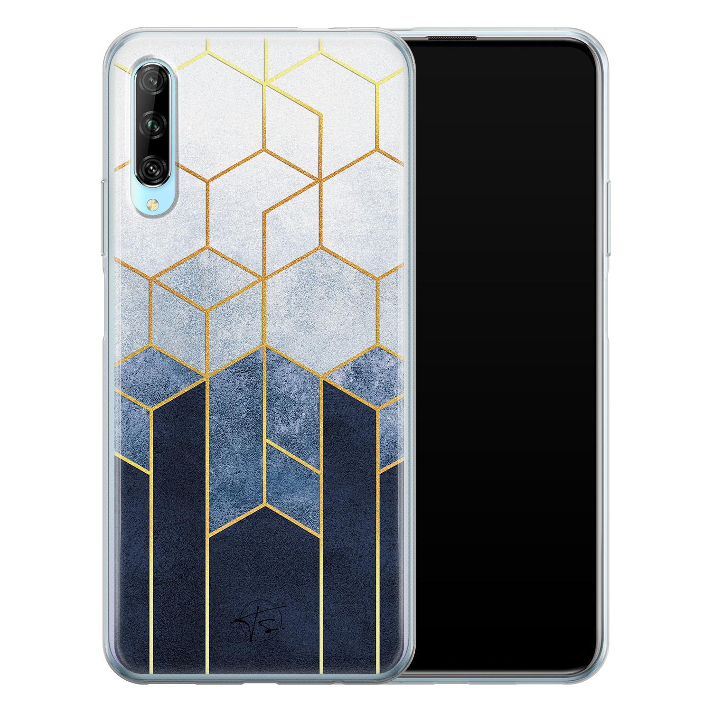 Telefoonhoesje Store Huawei P Smart Pro siliconen hoesje - Geometrisch fade art