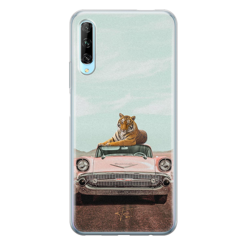 Telefoonhoesje Store Huawei P Smart Pro siliconen hoesje - Chill tijger