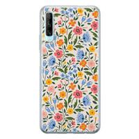 Telefoonhoesje Store Huawei P Smart Pro siliconen hoesje - Romantische bloemen
