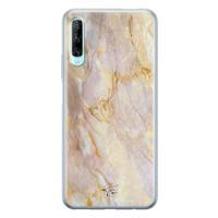 ELLECHIQ Huawei P Smart Pro siliconen hoesje - Stay Golden Marble