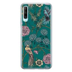 Telefoonhoesje Store Huawei P Smart Pro siliconen hoesje - Bloomy birds