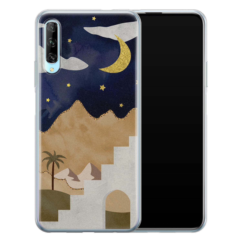 Leuke Telefoonhoesjes Huawei P Smart Pro siliconen hoesje - Desert night
