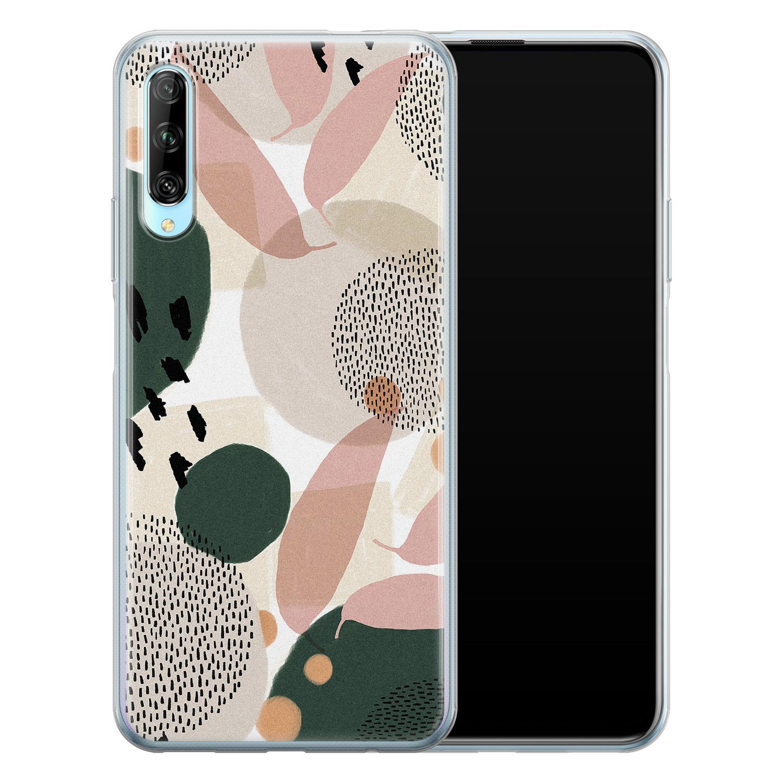 Leuke Telefoonhoesjes Huawei P Smart Pro siliconen hoesje - Abstract print