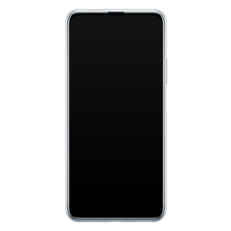 Leuke Telefoonhoesjes Huawei P Smart Pro siliconen hoesje - Abstract gezicht lijnen