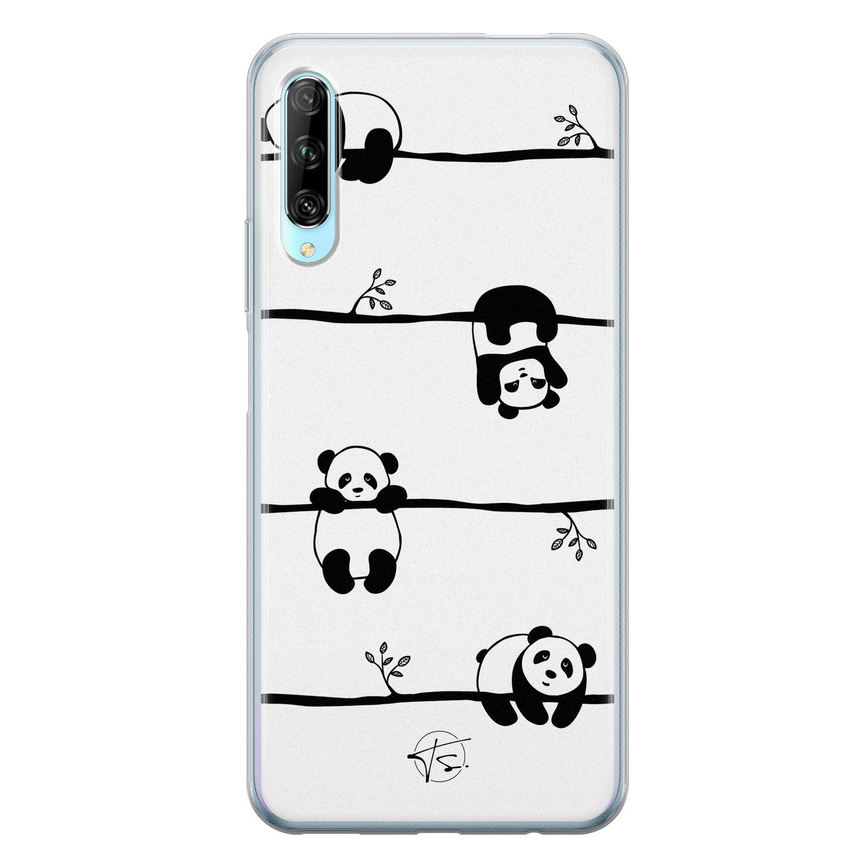 Telefoonhoesje Store Huawei P Smart Pro siliconen hoesje - Panda