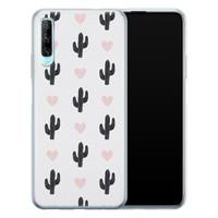 Leuke Telefoonhoesjes Huawei P Smart Pro siliconen hoesje - Cactus love