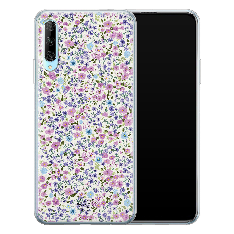 Telefoonhoesje Store Huawei P Smart Pro siliconen hoesje - Purple Garden