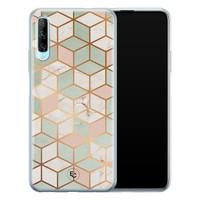 ELLECHIQ Huawei P Smart Pro siliconen hoesje - Pastel Kubus