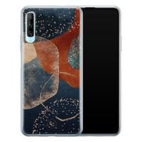 ELLECHIQ Huawei P Smart Pro siliconen hoesje - Abstract Terracotta