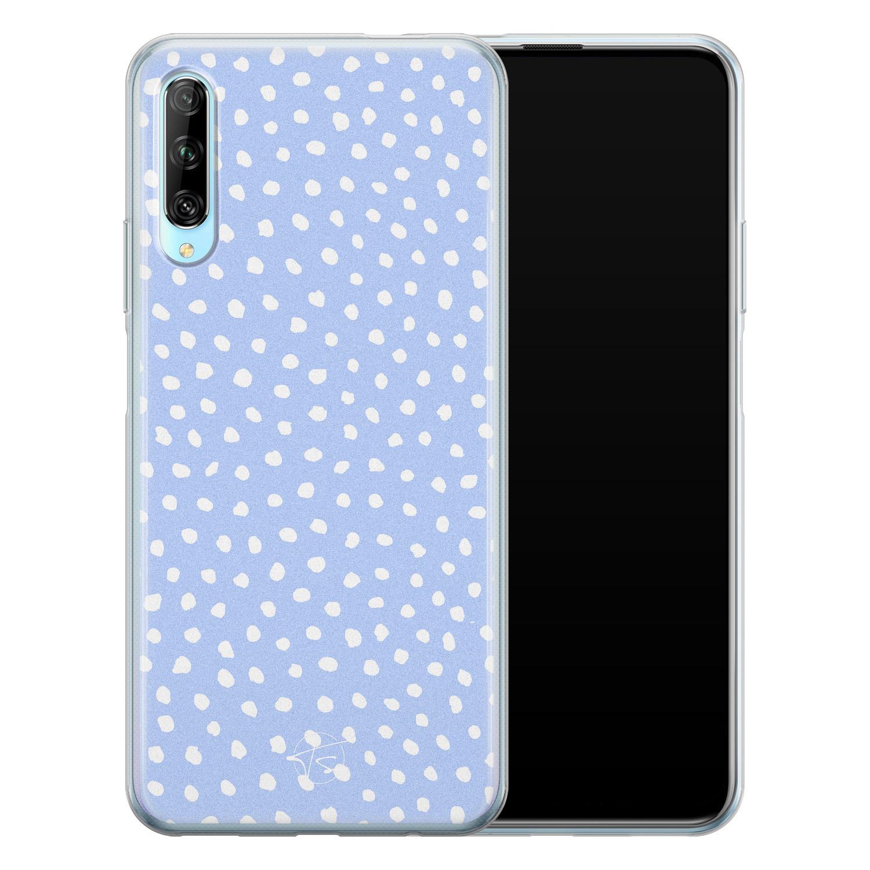 Telefoonhoesje Store Huawei P Smart Pro siliconen hoesje - Purple dots