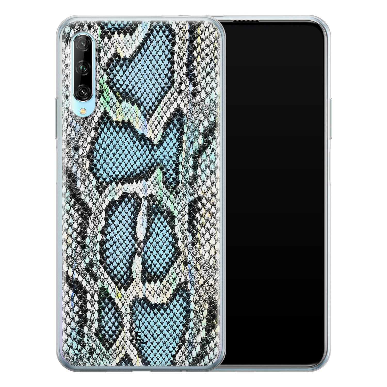 ELLECHIQ Huawei P Smart Pro siliconen hoesje - Baby Snake blue