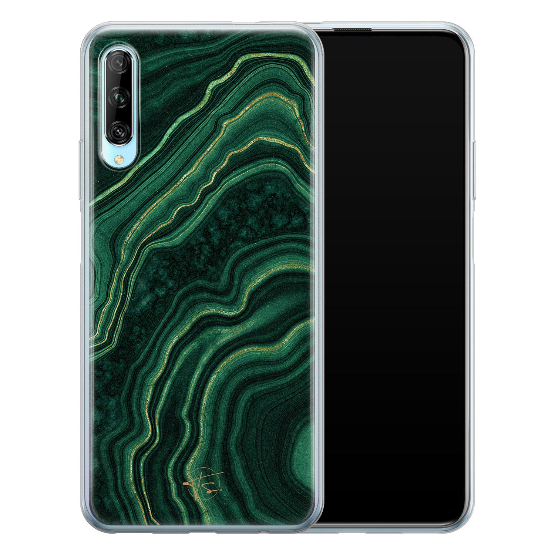 Telefoonhoesje Store Huawei P Smart Pro siliconen hoesje - Agate groen