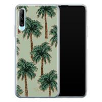 Telefoonhoesje Store Huawei P Smart Pro siliconen hoesje - Palmbomen