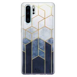Telefoonhoesje Store Huawei P30 Pro siliconen hoesje - Geometrisch fade art