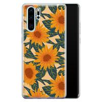 Telefoonhoesje Store Huawei P30 Pro siliconen hoesje - Zonnebloemen